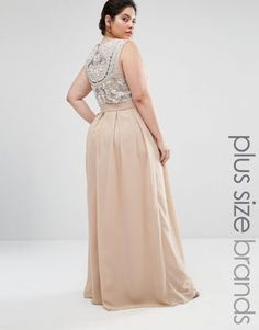 b87d1aae1095 Shop Lovedrobe Luxe Delicate Maxi Dress With Embellished Back at ASOS.