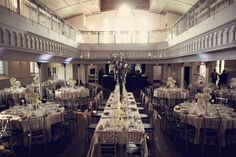 Below is a pic of the main floor of my ceremony and reception venue (an old church that is now an events venue). Wedding 2015, Our Wedding Day, Wedding Table, Wedding Reception, Wedding Venues, Toronto Wedding, Wedding Stuff, Christmas Decorations, Table Decorations