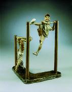 Hangin Around- A bronze sculpture by Mark Hopkins 17x15