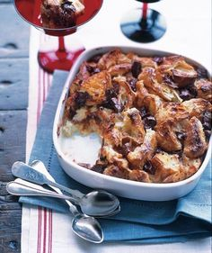 Croissant and Chocolate Bread Pudding | From appetizers to desserts, recipes as special as the holiday itself.