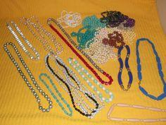 Vintage Costume Jewelry Lot of 22 Necklaces Plastic Round Odd Shaped Beads Funky http://cgi.ebay.com/ws/eBayISAPI.dll?ViewItem&item=111313710486&ssPageName=STRK:MESE:IT