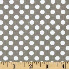 Riley Blake Dots Small Grey Love this (in the other colorways as well) for apparel. Would be great for a skirt or shorts or a top.