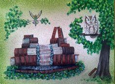 Book Birds (Birds with Books Collection) 16x20 Acrylic.  $300.  201472