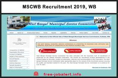 MSCWB Recruitment Municipal Service Commission West Bengal, appointment for the post of 150 Junior Engineer Police Recruitment, Railway Jobs, Bank Jobs, Last Date, West Bengal, Government Jobs, Apply Online, Important Dates, Social Networks
