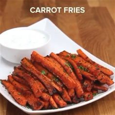Healthy Carrot Fries : Isn't this just lovely. Imagine another dimension of fries made with a natural herb like Carrot. You got nothing to worry about. Let me know what you feel about this Delicious and healthy recipe in the comment section. Healthy Meal Prep, Healthy Breakfast Recipes, Healthy Eating, Breakfast Bake, Easy Healthy Meals, Healthy Lunch Wraps, Healty Meals, Breakfast Ideas, Healthy Recipe Videos