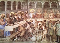 1376-78. Marriage at Cana-Giusto De'Menabuoi-Fresco Baptistry,Padua.