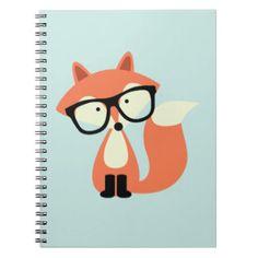 Fox rojo del inconformista lindo libro de apuntes con espiral