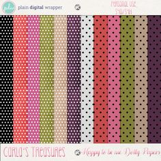 Happy To Be Me Dotty Papers by Carla's Treasures Designs.