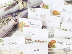 Fall Place Cards, Fa