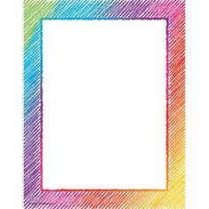 Colorful Scribble Computer Paper Colorful Scribble Computer Paper – x paper coordinates with your favorite designs. 50 sheets in each package. Frame Border Design, Boarder Designs, Page Borders Design, Doodle Borders, Borders For Paper, Borders And Frames, Café Design, Design Room, Food Design