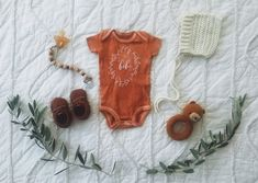 Bébé onesie hand dyed · The Stag & The Swan · Online Store Powered by Storenvy