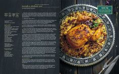 Stuffed roast chicken (Morgh-e shekam por). Persian recipe from the soon to be released cookbook Jewels of Persia.