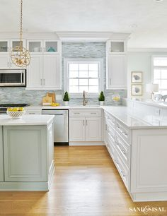 kitchen spring-family-room-and-coastal-kitchen-tour The More Creative Home Office Copyright 2006 Suz Home Decor Kitchen, Country Kitchen, Diy Kitchen, Kitchen Storage, Kitchen Ideas, Kitchen Designs, Kitchen Cabinets, Awesome Kitchen, Kitchen Layout