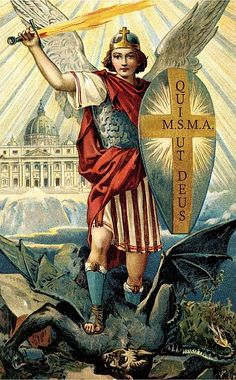 Prayer to Saint Michael, For Protection of the Church and our Holy Father O glorious St. Michael, guardian and defender of the Church of Jesus Christ, come to the assistance of this Church, against which the powers . Saint Michael, St. Michael, Angels Among Us, Angels And Demons, Christian Symbols, Christian Art, Religious Images, Religious Art, Kunst Online