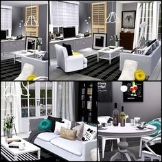 Simberry / Romance Ave. / Sims 3 / Downloads / Living Room / dining Room