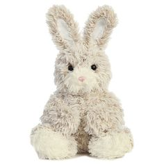 Carl the Raggamuffins Bunny Stuffed Animal by Aurora ($15) ❤ liked on Polyvore featuring plushie and stuffed animals