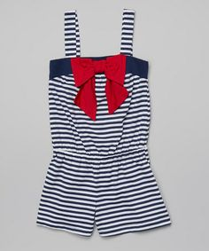 734f1772fdc Jenna   Jessie White   Navy Stripe Romper - Toddler   Girls