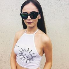 Smoking hot Shona in a pair of our Scarlett sunnies. Sunnies, Smoking, Fans, Photo And Video, Tank Tops, Stylish, Model, Instagram, Fashion