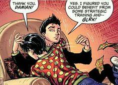 Damian Wayne Batman, Batman Y Superman, Batman Robin, Jonathan Kent, Jon Kent, Jason Todd, Dc Comics, Funny Comics, Demian Wayne