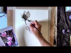 Magnolias Pen and Ink Speed demonstration by Joe Cartwright Pen And Wash, Ink Wash, Watercolor Techniques, Painting Techniques, Watercolor Paper, Watercolor Paintings, Watercolors, Dip Pen, India Ink