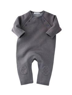 Newborn Fleece All-in-one Charcoal+Dusky pink