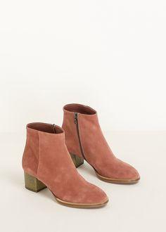 Dries Van Noten Suede Ankle Boot (Old Rose)