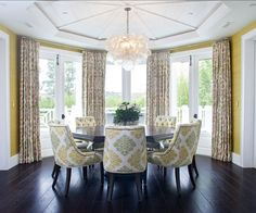Dining Room design photos, ideas and inspiration. Amazing gallery of interior design and decorating ideas of dining rooms by elite interior designers. Decor, Round Dining Room, Room Design, Transitional House, Interior, Transitional Living Rooms, Home Decor, Interior Design, Transitional Furniture