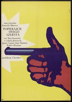 Support Your Local Gunfighter (Burt Kennedy, 1971) Polish design by Bronislaw Zelek