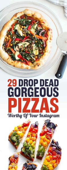 29 Instagram-Worthy Pizza Recipes To Try At Home  I may not like all of them but they are just so gorgeous! Pizza is bae <3
