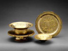 Silver service, Song dynasty (960–1279), 11th–13th century  China  Silver with gilding