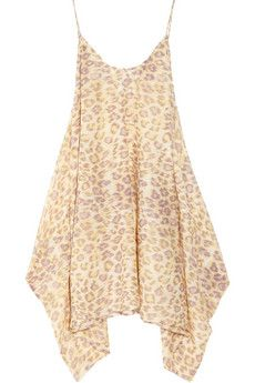 Leopard-print cotton-voile sundress