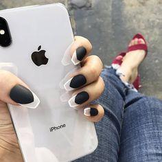 white tip nails