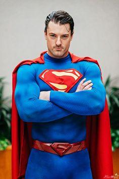 new 52 superman costume f. Cosplay Dc, Superman Cosplay, Superman Costumes, Superhero Cosplay, Male Cosplay, Best Cosplay, Cosplay Costumes, Superman Halloween, Marvel Costumes