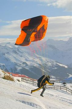 Paragliding (Xtreme sports), Vercorin, Switzerland.  Photo: SNOWFactory.com via flickr