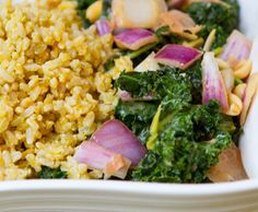 Cheezy Rice Kale Bowl