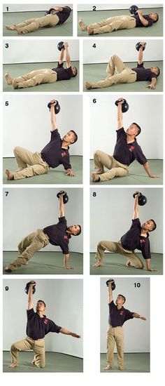 I like his approach—No frills: How to Perform The Kettlebell Turkish Get Up Hardstyle From The Ground Up