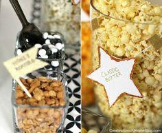 Popcorn Bar Party idea!! Love it!