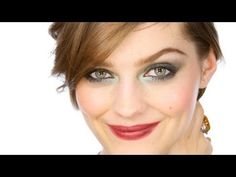 Lisa Eldridge - GreenSmoke Glamorous Party Eyes Make-up Tutorial. For more tips and a list of products visit http://www.lisaeldridge.com/video/21604/green-smoke-glittery-glam-party-eyes/ #Makeup #Tutorial #Beauty