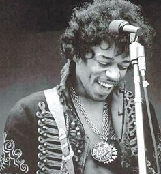 Jimi Hendrix - see the happiness & joy of his being in his smile