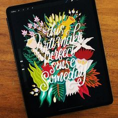 Create a Floral Quote with Procreate - The Pigeon Letters Brush Lettering, Lettering Design, Drawing Tutorials, Art Tutorials, Parts Of The Letter, Floral Quotes, Floral Letters, Flower Tutorial, Modern Calligraphy