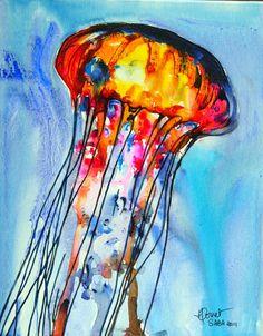 Wonderful Heleen Cornet jelly fish painting