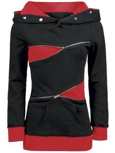 Red Logo Zipper Hoodie von Pussy Deluxe