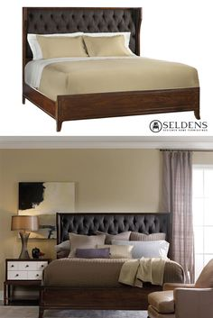 Palisade Upholstered Shelter King Bed - Hooker Furniture