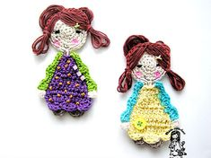"Free pattern for ""Sweet Girl Applique"" by Vendula Maderska!"