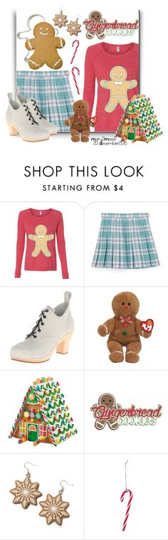 """""""Gingerbread"""" by octobermaze ❤ liked on Polyvore featuring Swedish Hasbeens, Hannah Makes Things, Christmas, gingerbread, MerryChristmas and Christmas2015"""
