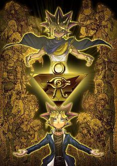 Reincarnation/two halves of a whole, Millennium Puzzle, Pharaoh Atem/Yam Yugi, Yugi All Anime, Anime Love, Anime Girls, Anime Art, Dessin Yu Gi Oh, Atem Yugioh, Super Anime, Yugioh Monsters, Yugioh Collection