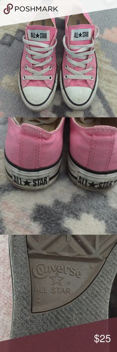 Pink Converse Says size 4, equivalent to a women's size 6. Converse Shoes Sneakers