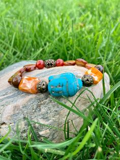 Excited to share this item from my #etsy shop: Buddha Bracelet. Women's Bracelet. Gift For Her. Yoga. Meditation. Spiritual jewelry #luck #unisexadults #bohohippie #blue #orange #meditation #yoga #bohobracelet #bohemian #buddha Hippie Boho, Bohemian, Buddha Head, Spiritual Jewelry, Yoga Meditation, Blue Orange, Turquoise Bracelet, Gifts For Her, Spirituality