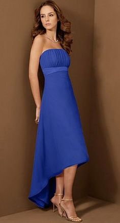 Alfred Angelo High Low Bridesmaid Dress 6455 .   Mother of the Groom?      With straps & a jacket of course.   And some really hot shoes!