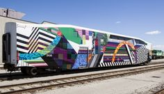 Art-wrapped GO Train